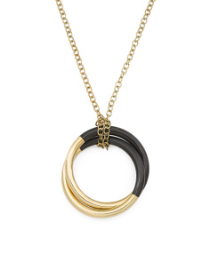 14k Gold Plated Brass And Natural Horn Necklace
