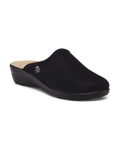 Made In Italy Mesh Slip-on Comfort Clogs