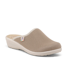 Made In Italy Mesh Slip On Comfort Clogs