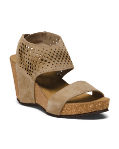 Made In Italy Suede Wedge Sandals