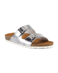 Made In Italy Double Band Sandals