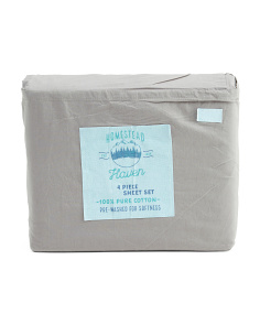 200 Thread Count Stone Washed Sheet Set