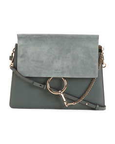 b6d83d4345b5 Made In Italy Faye Medium Leather Shoulder Bag ...