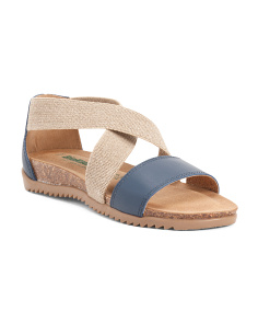 Made In Italy Suede Strappy Sandals