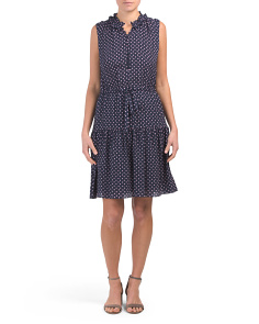 Ikat Dot Silk Blend Dress
