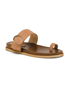 Made In Italy Toe Ring Leather Sandals