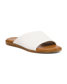 Made In Italy Asymmetrical Leather Sandals