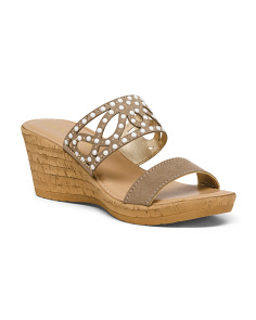 Made In Italy Pearl Cut Out Sandals