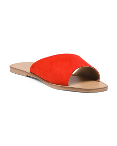 Made In Italy Asymmetrical Suede Flats