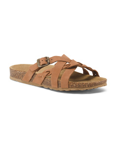 Made In Italy Multi Strap Leather Sandals
