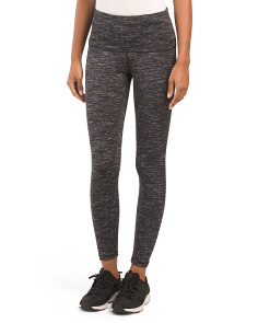 Tummy Control Ankle Length Space Dye Leggings