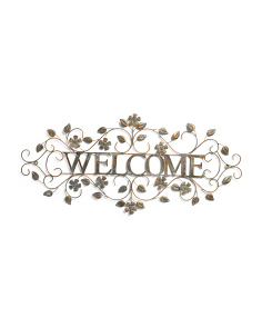 Welcome Metal Wall Decor