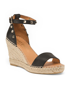 Made In Spain One Band Leather Wedges