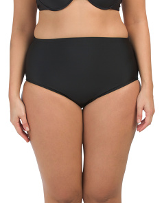 Plus High Waisted Swim Bottom