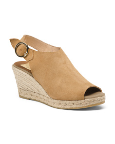 Made In Spain Suede Espadrille Sandals