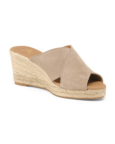 Made In Spain X-band Suede Wedges