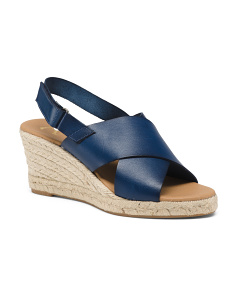 Made In Spain Leather Wedge Sandals