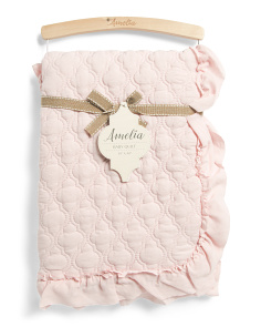 Ruffle Quilted Baby Blanket