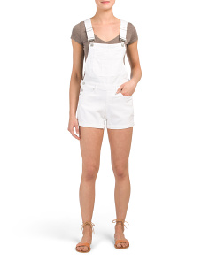 Juniors Twill Cuff Shortalls