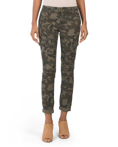 Juniors Camo Roll Cuff Cargo Pants