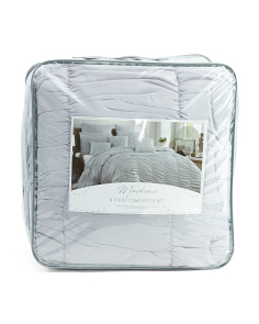 8pc Mackena Textured Comforter Set