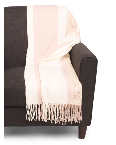 Tati Lace Inlay Throw