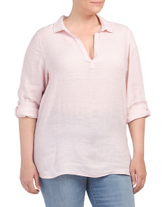Plus Linen Popover Top