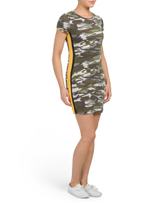 Juniors Short Sleeve Camo Dress