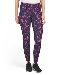 Animal Print Leggings With Side Detail