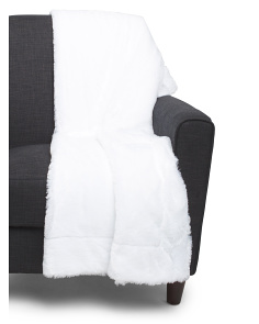 Reversible Serengeti Faux Fur Throw