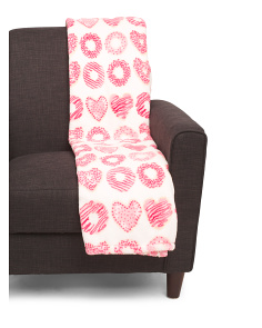 Valentines Donuts Plush Throw