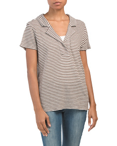 Linen Striped Collar Shirt
