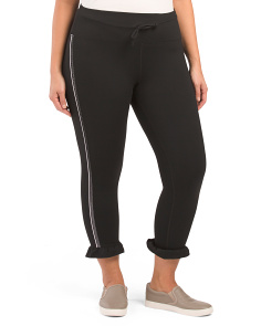 Plus Active Leggings With Ruffle Hem