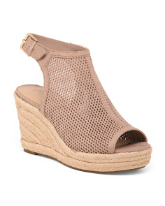 Perforated Wedge Espadrilles