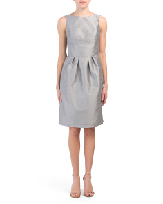 Bow Back Dupioni Faux Silk Dress