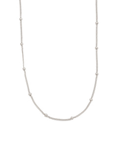 Sterling Silver Chain With Swarovski Crystal Accents