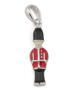 Sterling Silver Enamel Royal Guard Charm