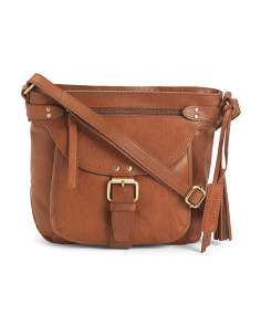 Leather Delamar Bronco Crossbody