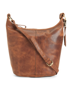 Distressed Leather Cara Hobo