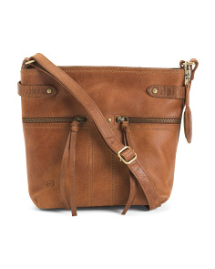 Leather Distressed Crafton Crossbody