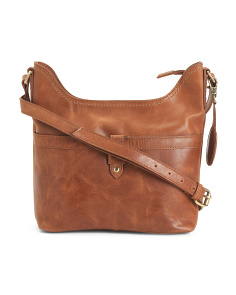 Leather Distressed Primo Crossbody