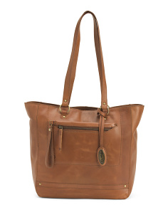 Leather Distressed Wellsley Tote