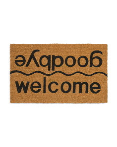 Made In India 18x30 Welcome Goodbye Doormat