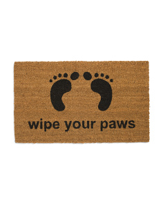 Made In India 18x30 Wipe Your Paws Doormat