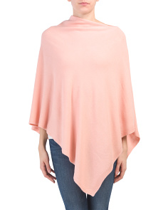 Asymmetric Solid Knit Poncho