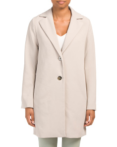 Crepe Single Breasted Spring Coat