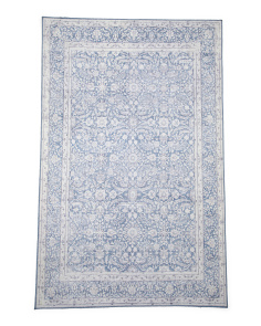 Made In Turkey Floral Flat Weave Area Rug