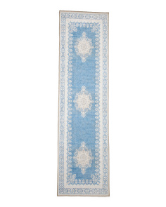 Made In Turkey 2x7 Medallion Flat Weave Runner