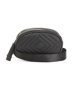High Shine Quilted Fanny Pack