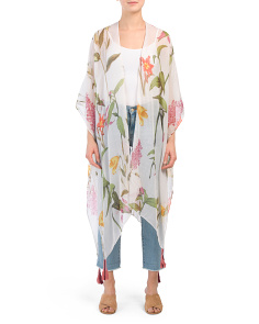 Lightweight Lily Floral Print Kimono